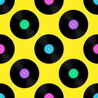Disques vinyle Seamless Pattern