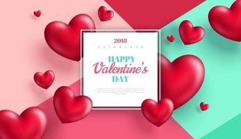 Bannière de Saint Valentin ou carte de voeux