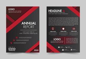 Modèle de rapport annuel vecteur