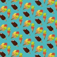 Crèmes glacées et motif de fond popsicle vecteur