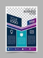 Modèle de mise en page d'affiche de conception de brochure commerciale