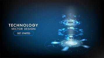 Fond de technologie abstraite Technologie de concept de communication Hi-Tech vecteur