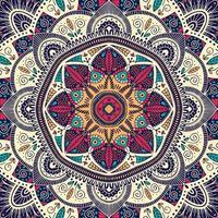 Mandala floral ornemental coloré vecteur
