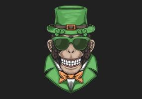Conception de la Saint-Patrick de Monkey Head vecteur