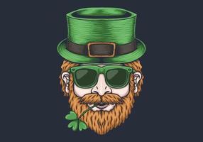 Tête d'homme design de la Saint-Patrick vecteur