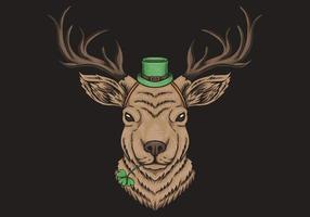 Conception de la Saint-Patrick de Deer Head vecteur