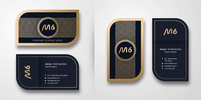 Modèle de Carte de visite de modèle abstrait de luxe en or vecteur