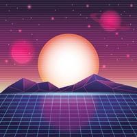 paysage de montagne numérique vecteur