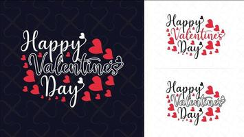 Typographie Happy Valentines Day vecteur