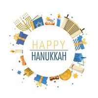 bonne célébration de Hanoukka et tradition culturelle