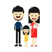 Personnages de famille heureux