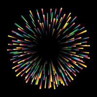 Design starburst coloré