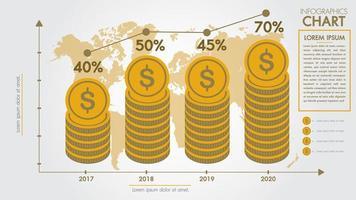 Concept de design infographie argent vecteur