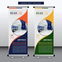 conception de bannière verticale avec découpe arrondie pour l'image vecteur