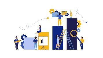 Fond d'illustration vectorielle de partenariat analytique