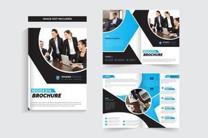Conception de modèle de brochure d'entreprise à découpe circulaire