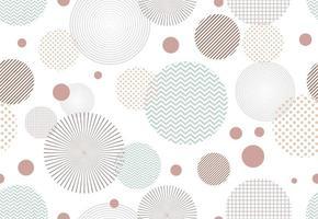 Modèle sans couture d'éléments de forme de cercle abstrait sur fond blanc vecteur