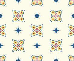 Modèle sans couture de formes géométriques et étoiles colorées vecteur