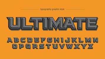 Typographie d'effet 3D en gras gris