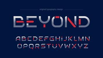 Conception de typographie sportive futuriste