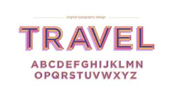 Conception de typographie vintage orange violet majuscule