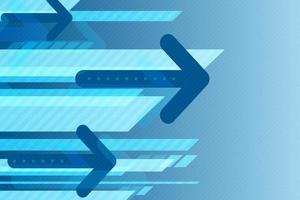Flèche design futuriste dans le ton bleu vecteur