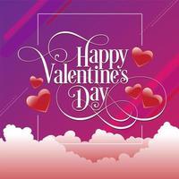Conception de style tourbillon Happy valentine's day vecteur