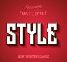 Effet de texte de style vecteur