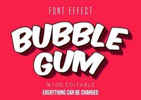 Texte de Bubble Gum vecteur