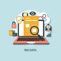 Analyse des données. Design plat. illustration de stock