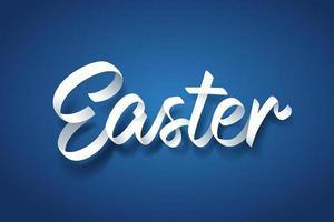 Art du papier de lettrage à la main de calligraphie de Pâques vecteur