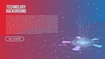 Fond de technologie abstraite Concept de communication Hi-Tech vecteur
