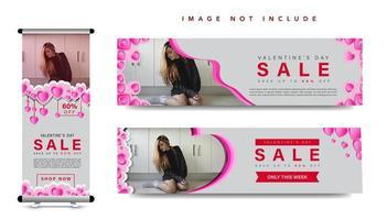 Collection de bannières de la Saint-Valentin vecteur