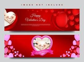 Jeu de bannière de la Saint-Valentin vecteur