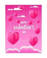 Salutation de la Saint-Valentin vecteur