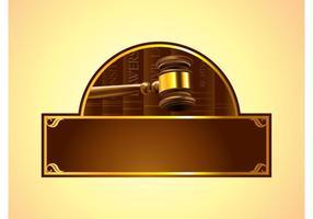 Logo de droit vecteur