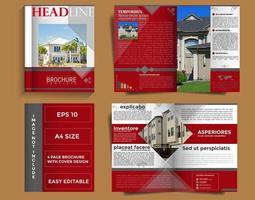 Modèle de brochure d'entreprise avec design de couverture vecteur