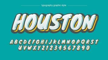 Conception de calligraphie audacieuse de style Grafitti vecteur