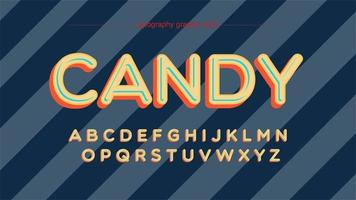 Typographie de dessin animé majuscule coloré arrondi vecteur