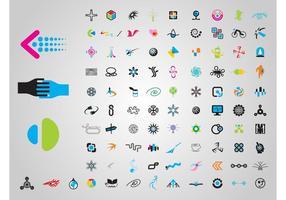 Ensemble de logo vecteur