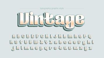 Typographie d'affichage arrondi vintage vecteur