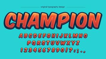 Conception de typographie orange Cartoon Comics vecteur