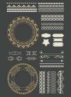 ruban corative bannières emblèmes dessin animé vecteur