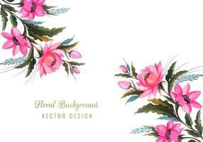 conception de fleur aquarelle vecteur