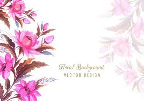 fond de conception de fleur vecteur