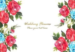 cadre floral décoratif vecteur