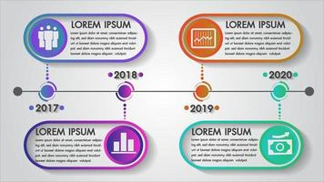 Conception de l'année infographique de la chronologie vecteur