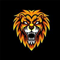Badge de personnage Lion Head Esports vecteur