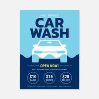 Modèle d'Affiche de service de lavage de voiture vecteur