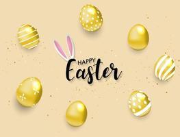 Joyeux fond de Pâques vecteur